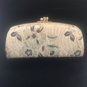 Vintage gold and black evening purse